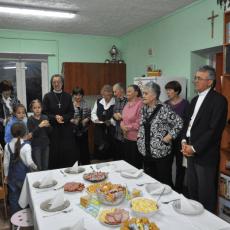 Рождественский пастырский визит священника