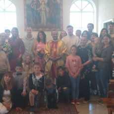 15 июня 2019 г. Прощание с настоятелем, супружеская встреча и венчание в Яшкинским приходе