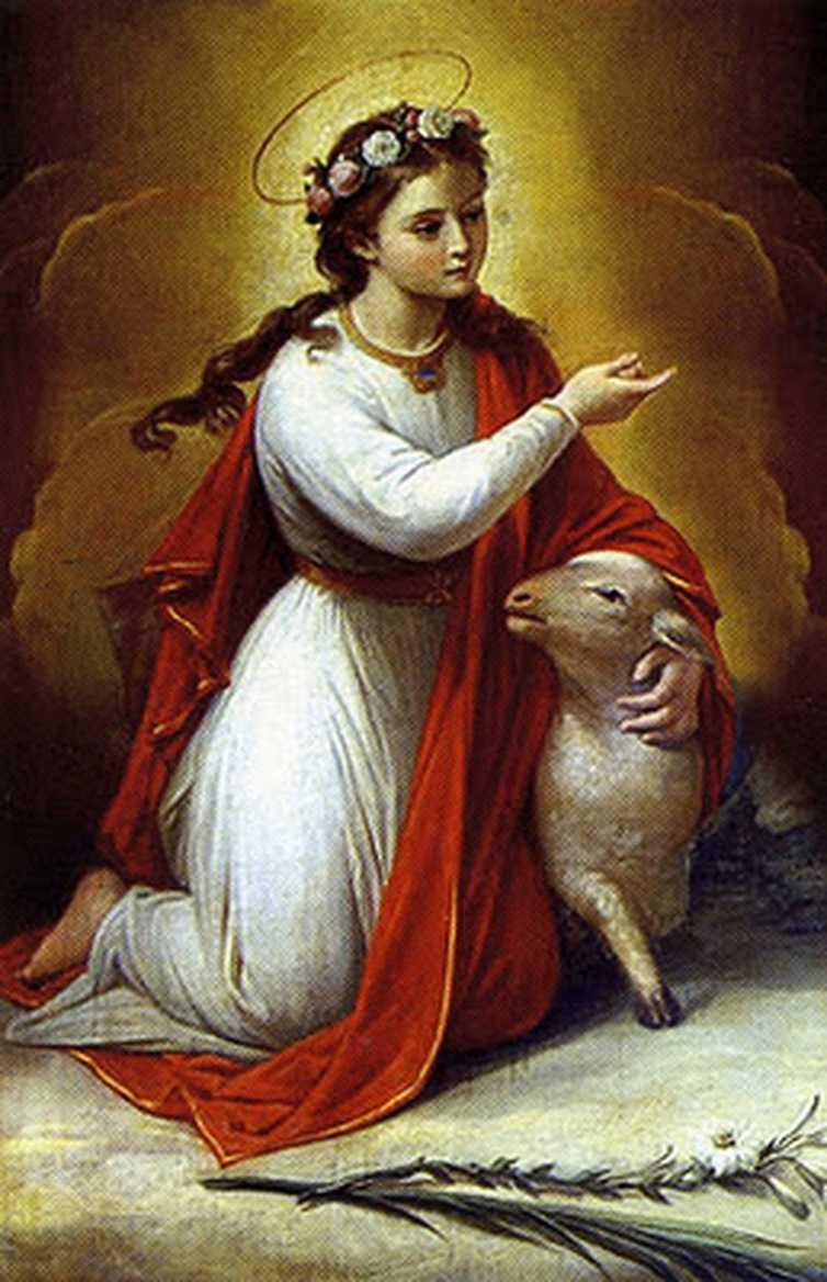 21 января. Святая Агнесса (Агния), дева и мученица. Память 1