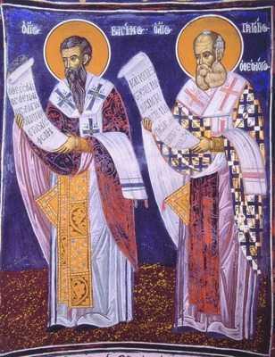 2 января. Святые Василий Великий и Григорий Назианзин (Богослов), епископы и Учителя Церкви. Память 2