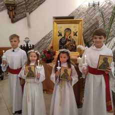 14 июня 2020 Первое причастие Кирилла, Владимира, Софии и Милены.