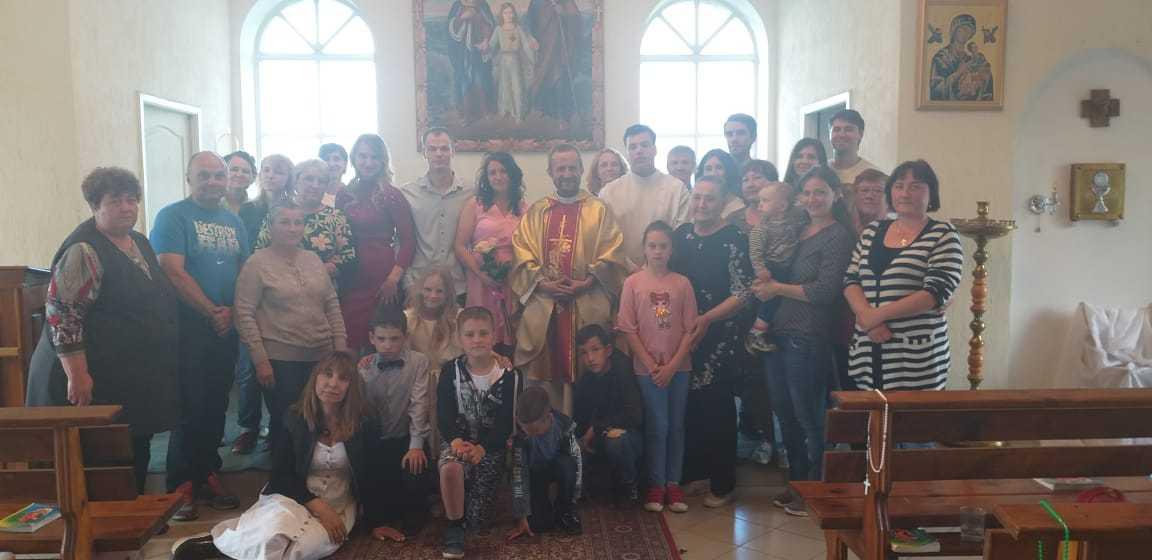 15 июня 2019 г. Прощание с настоятелем, супружеская встреча и венчание в Яшкинским приходе 1