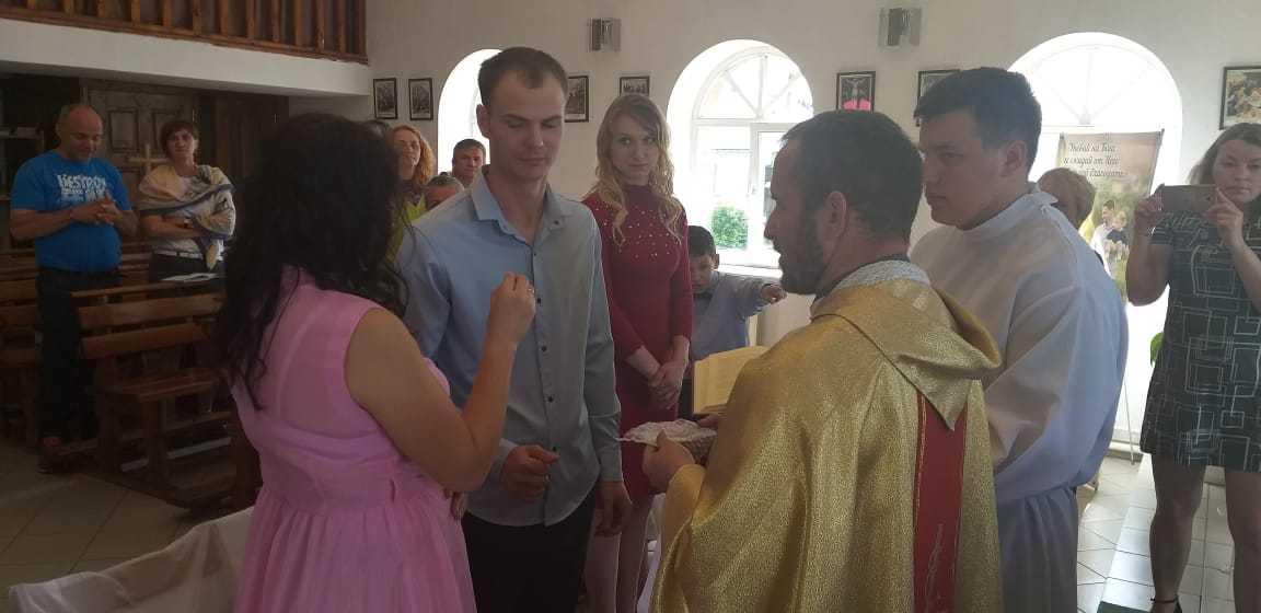 15 июня 2019 г. Прощание с настоятелем, супружеская встреча и венчание в Яшкинским приходе 6