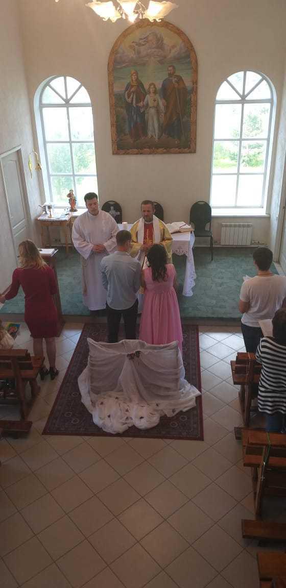15 июня 2019 г. Прощание с настоятелем, супружеская встреча и венчание в Яшкинским приходе 8