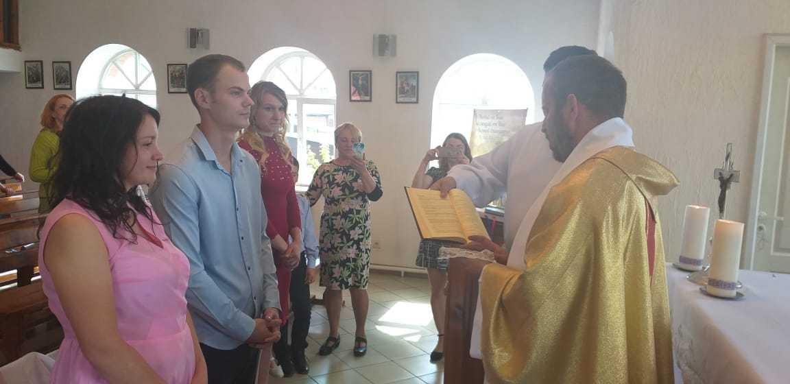 15 июня 2019 г. Прощание с настоятелем, супружеская встреча и венчание в Яшкинским приходе 12