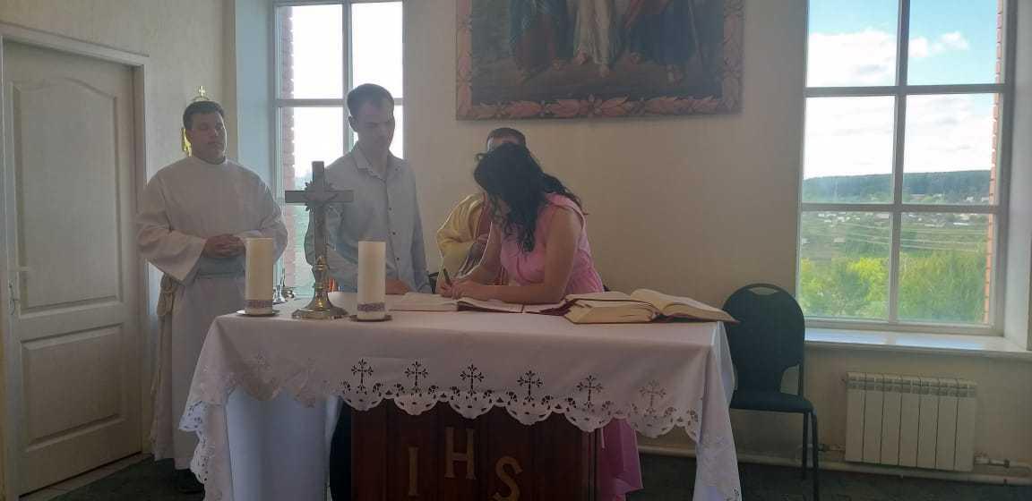 15 июня 2019 г. Прощание с настоятелем, супружеская встреча и венчание в Яшкинским приходе 10